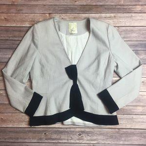 Anthropologie Elevenses Bow tie Wool Blazer